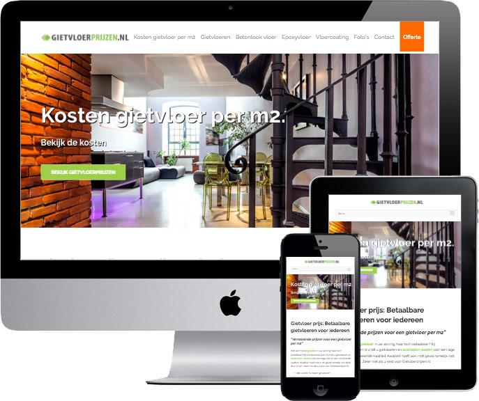 wordpress website gietvloerprijzen.nl