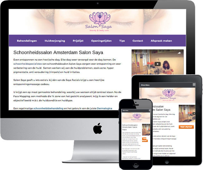 wordpress website salonssaya.nl