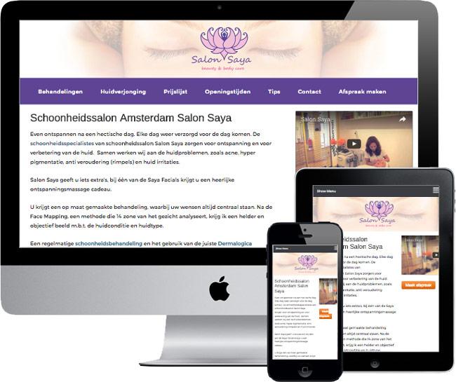 wordpress website salonssaya.nl