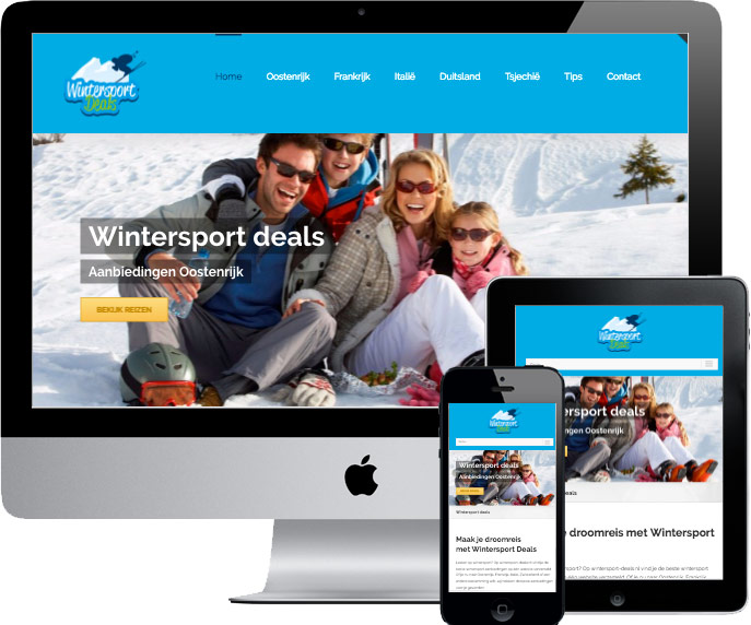wordpress website wintersport-deals.nl