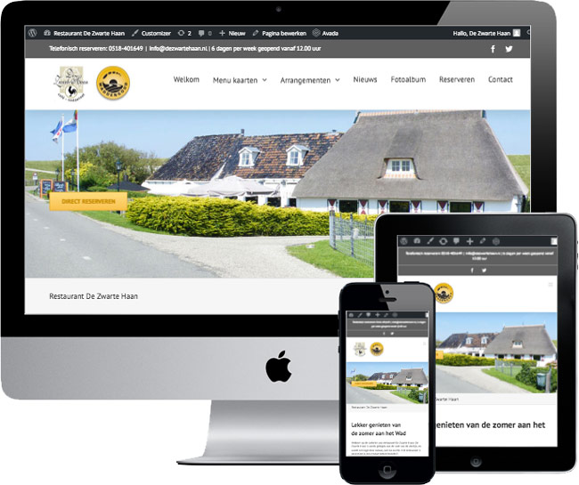 wordpress website dezwartehaan.nl